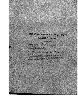 Marter WI Minute Book, 1915-20