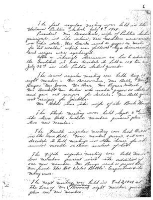 Mattawa WI Branch History, 1907-69