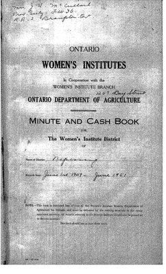 Nipissing District WI Minute Book: 1949-51