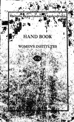 1930 WI Handbook and Rockley WI Minute Book, 1929-36