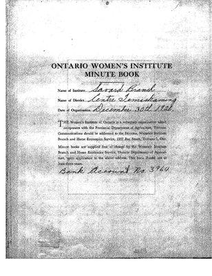 Savard WI Minute Book, 1951-55