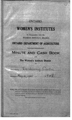 Temiskaming Centre District WI Minute Book, 1945-48