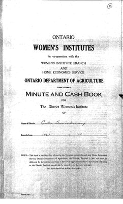 Temiskaming Centre District WI Minute Book, 1961-65
