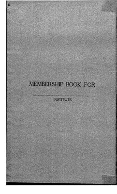 Temiskaming District WI Membership List, 1916-19