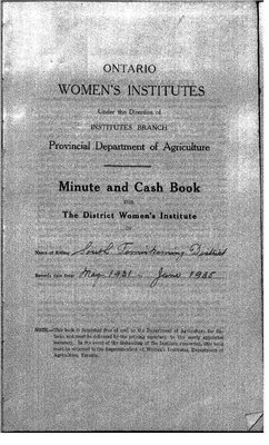 Temiskaming South District WI Minute Book, 1931-35
