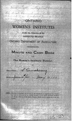 Temiskaming South District WI Minute Book, 1941-44