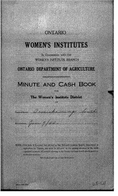 Temiskaming South District WI Minute Book, 1944-47