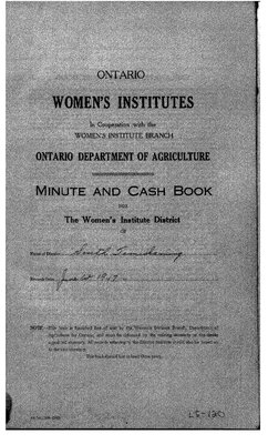 Temiskaming South District WI Minute Book, 1947-50