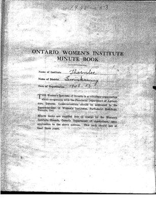 Thornloe WI Minute Book, 1948-53
