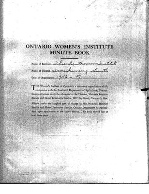 Thornloe WI Minute Book, 1953-57