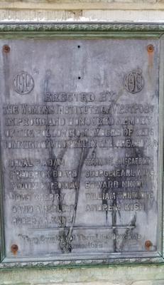 Plaque to Honour WWI Veterans by Westport WI