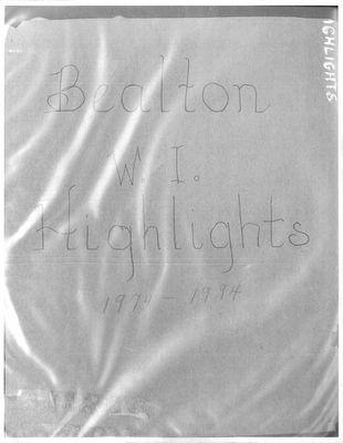 Bealton WI Tweedsmuir Community History, Volume 3, 1974-1994