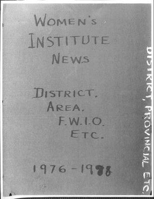 Bealton WI Tweedsmuir Community History, Volume 4, 1976-1998