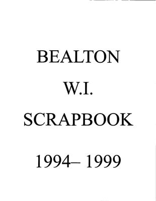 Bealton WI Tweedsmuir Community History, Volume 5, 1994-1999