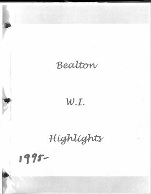Bealton WI Tweedsmuir Community History, Volume 7, 1995-2004