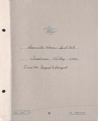 Beamsville WI Tweedsmuir Community History, Volume 10, 2002