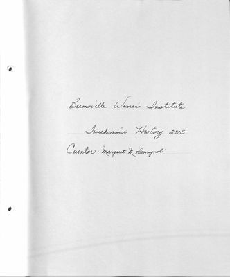 Beamsville WI Tweedsmuir Community History, Volume 12, 2005