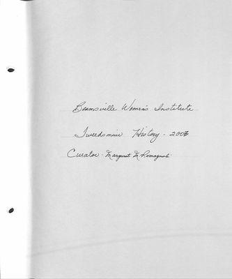 Beamsville WI Tweedsmuir Community History, Volume 14, 2007