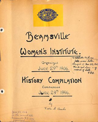 Beamsville WI Tweedsmuir Community History, Volume 2, 1931-1976