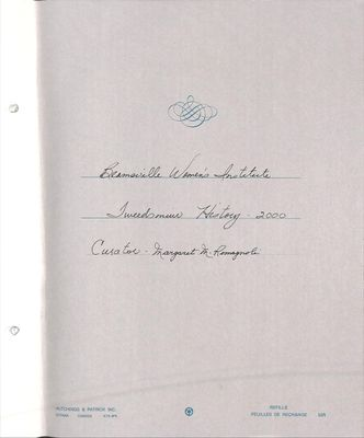 Beamsville WI Tweedsmuir Community History, Volume 8, 2000