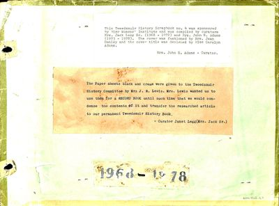 Birr WI Tweedsmuir Community History, Volume 4, 1968-1978