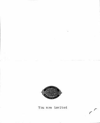 Braemar WI 75th Anniversary Invitation, 1982