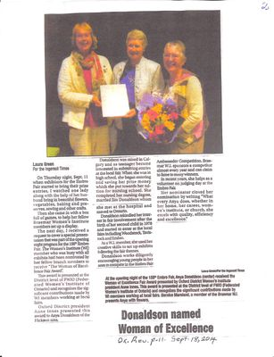 Braemar WI Tweedsmuir Community History, Volume 8, 2014