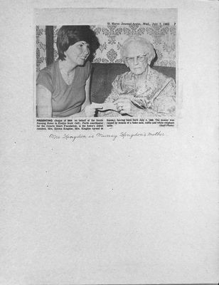 Browns WI Tweedsmuir Community History, 1982-1984