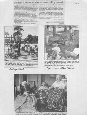Browns WI Tweedsmuir Community History, 1991-1994