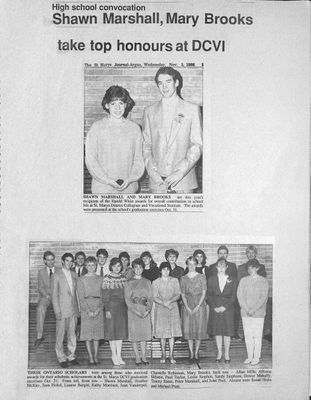 Browns WI Tweedsmuir Community History, 1986-1987