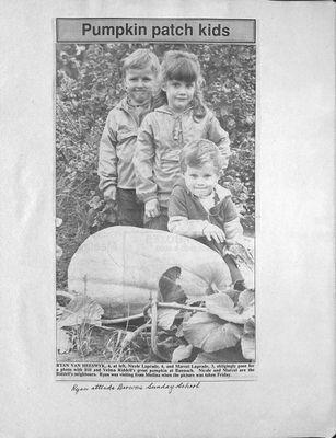 Browns WI Tweedsmuir Community History, 1987-1989