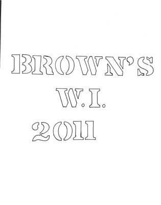 Browns WI Tweedsmuir Community History, Volume 10, 2011-2013