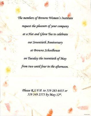 Browns WI Tweedsmuir Community History, Volume 16