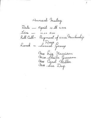 Browns WI Tweedsmuir Community History, Volume 8, 2002-2006