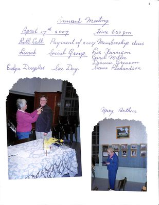 Browns WI Tweedsmuir Community History, Volume 9, 2007-2010