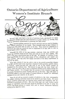 Eggs Pamphlet