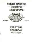 North Horton Women's Institute Heritage Cookbook 1915-1995