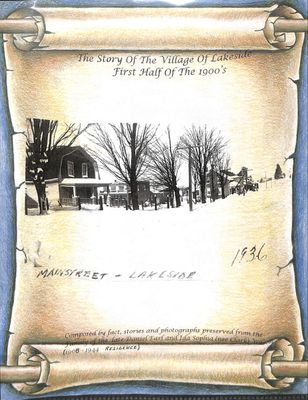 The Story of the Village of Lakeside, First Half of the 1900's