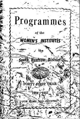 Renfrew South District WI Programs, 1954-55