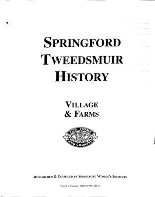 Springford Tweedsmuir History: Village and Farms