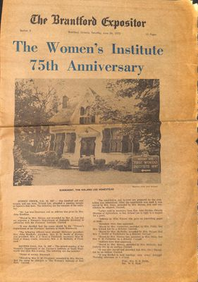 The Brantford Expositor - The Women's Institute 75th Anniversary