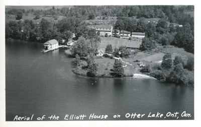 Aerial of the Elliott House