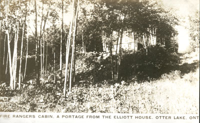 Fire Rangers Cabin - a portage from the Elliott House, Otter Lake Ontario