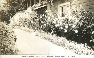 Floral Walk, The Elliott House, Otter Lake Ontario