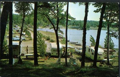 Provincial Park Camp Site Near Parry Sound