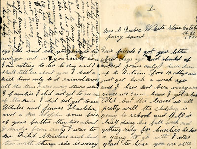 Letter to Mrs. C. Quebec