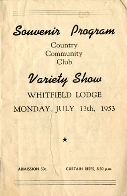 C.C. Club Variety Show Program