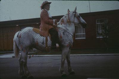 Wm. E Badger on a White Horse