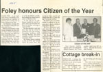 Foley honours Citizen of the Year