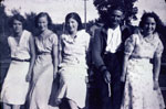 Four Young Women and a Man